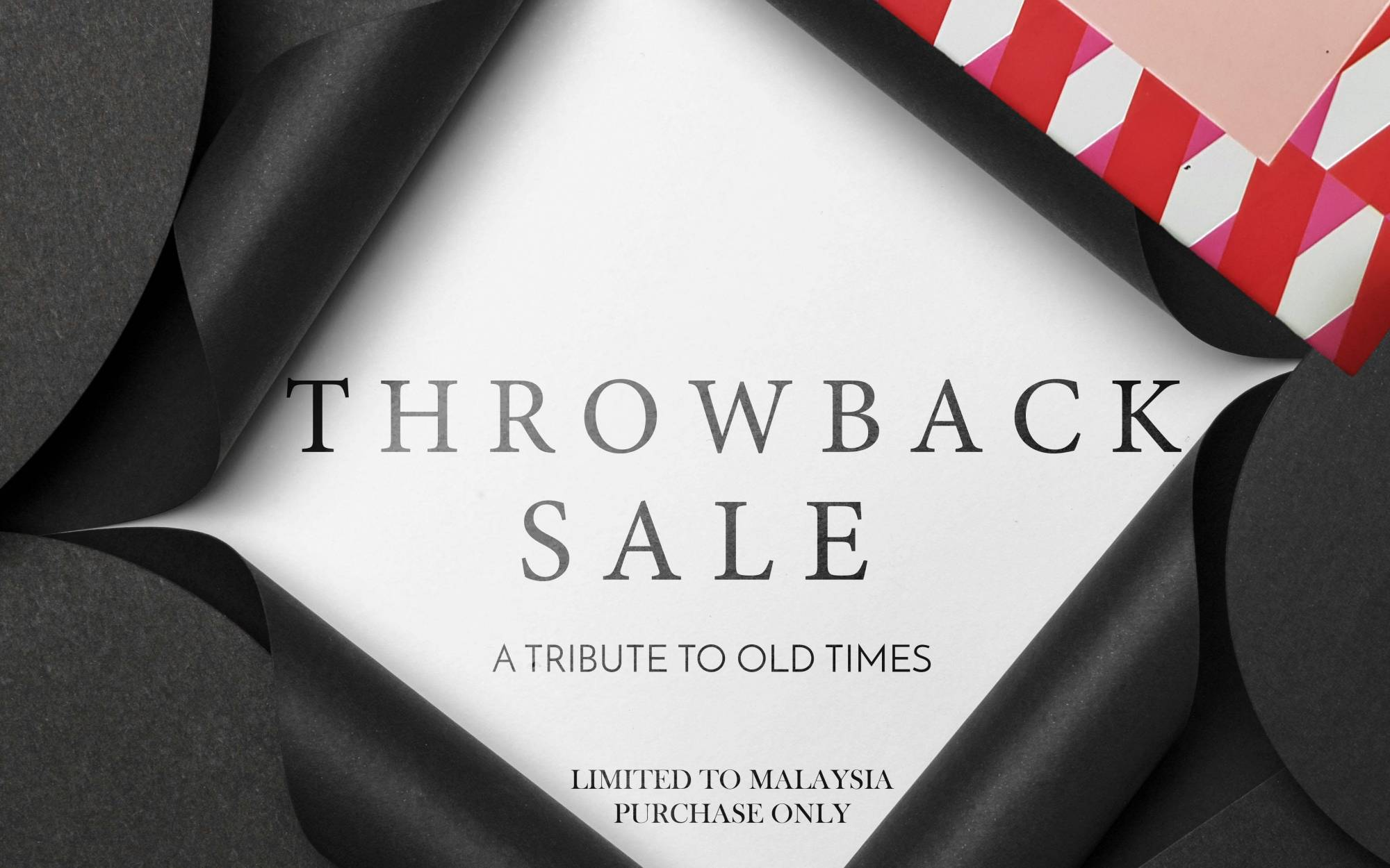 Throwback sale